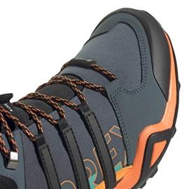 Buty męskie adidas Terrex Swift szaro-pomarańczowo-niebieskie FV6840 pomarańczowe szare wielokolorowe 3