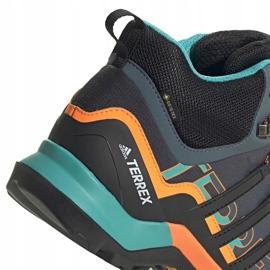 Buty męskie adidas Terrex Swift szaro-pomarańczowo-niebieskie FV6840 pomarańczowe szare wielokolorowe 2