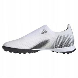 Buty piłkarskie adidas X GHOSTED.3 Ll Tf EG8158 białe białe 2