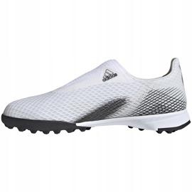 Buty piłkarskie adidas X GHOSTED.3 Ll Tf Junior EG8150 białe ['biały'] 2