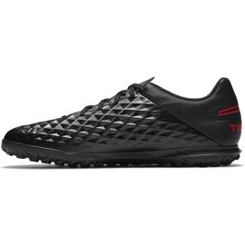 Buty piłkarskie Nike Tiempo Legend 8 Club Tf AT6109 060 czarne czarne 2