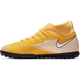 Buty piłkarskie Nike Mercurial Superfly 7 Club Tf Junior AT8156 801 żółte pomarańczowe 2