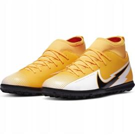 Buty piłkarskie Nike Mercurial Superfly 7 Club Tf Junior AT8156 801 żółte pomarańczowe 3