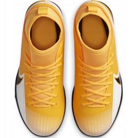 Buty piłkarskie Nike Mercurial Superfly 7 Club Tf Junior AT8156 801 żółte pomarańczowe 1