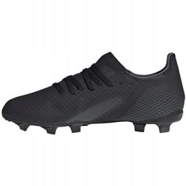 Buty piłkarskie adidas X GHOSTED.3 Fg Junior FW3545 czarne czarne 2