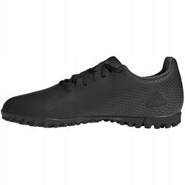 Buty piłkarskie adidas X GHOSTED.4 Tf EG8236 czarne czarne 2