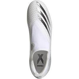 Buty piłkarskie adidas X GHOSTED.3 Ll Fg EG8165 białe białe 1
