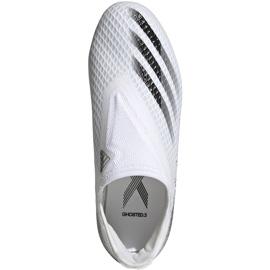 Buty piłkarskie adidas X GHOSTED.3 Ll Fg Junior EG8151 białe białe 1