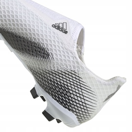 Buty piłkarskie adidas X GHOSTED.3 Ll Fg Junior EG8151 białe białe 4