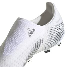 Buty piłkarskie adidas X GHOSTED.3 Ll Fg EG8165 białe białe 4