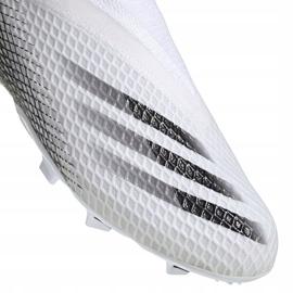 Buty piłkarskie adidas X GHOSTED.3 Ll Fg Junior EG8151 białe białe 3
