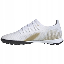 Buty piłkarskie adidas X GHOSTED.3 Tf EG8199 białe białe 2