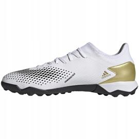 Buty piłkarskie adidas Predator 20.3 L Tf FW9189 białe biały, złoty, czarny 2