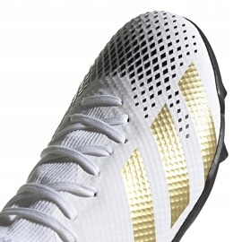 Buty piłkarskie adidas Predator 20.3 L Tf FW9189 białe biały, złoty, czarny 3