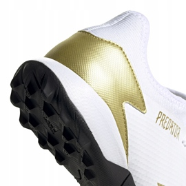 Buty piłkarskie adidas Predator 20.3 L Tf FW9189 białe biały, złoty, czarny 4