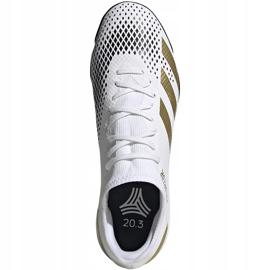 Buty piłkarskie adidas Predator 20.3 L Tf FW9189 białe biały, złoty, czarny 1