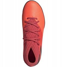 Buty piłkarskie adidas Nemeziz 19.3 Tf Jr EH0499 pomarańczowe pomarańczowe 1