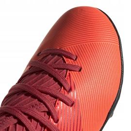 Buty piłkarskie adidas Nemeziz 19.3 Tf Jr EH0499 pomarańczowe pomarańczowe 3