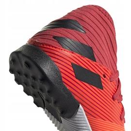 Buty piłkarskie adidas Nemeziz 19.3 Tf Jr EH0499 pomarańczowe pomarańczowe 4