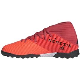 Buty piłkarskie adidas Nemeziz 19.3 Tf Jr EH0499 pomarańczowe pomarańczowe 2