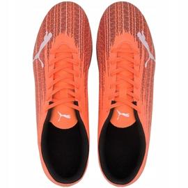 Buty piłkarskie Puma Ultra 4.1 Fg Ag 106092 01 pomarańczowe pomarańczowe 2