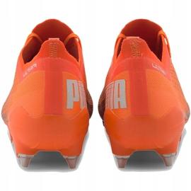 Buty piłkarskie Puma Ultra 1.1 MxSG 106076 01 pomarańczowe pomarańczowe 4