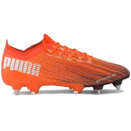 Buty piłkarskie Puma Ultra 1.1 MxSG 106076 01 pomarańczowe pomarańczowe 1