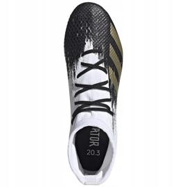 Buty piłkarskie adidas Predator 20.3 Sg FW9187 białe 1