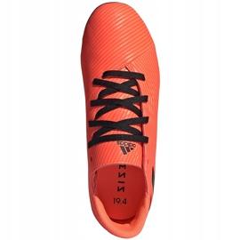 Buty piłkarskie adidas Nemeziz 19.4 FxG Jr pomarańczowe EH0507 pomarańczowy,czarny 1