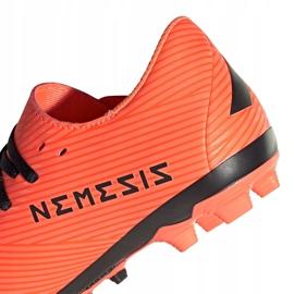 Buty piłkarskie adidas Nemeziz 19.4 FxG Jr pomarańczowe EH0507 pomarańczowy,czarny 4
