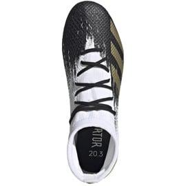 Buty piłkarskie adidas Predator 20.3 Fg FW9196 białe 1