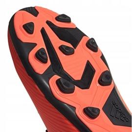 Buty piłkarskie adidas Nemeziz 19.4 FxG Jr pomarańczowe EH0507 pomarańczowy,czarny 5