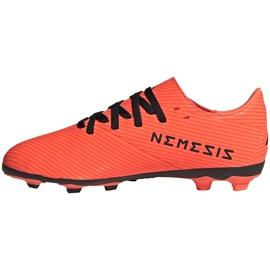 Buty piłkarskie adidas Nemeziz 19.4 FxG Jr pomarańczowe EH0507 pomarańczowy,czarny 2