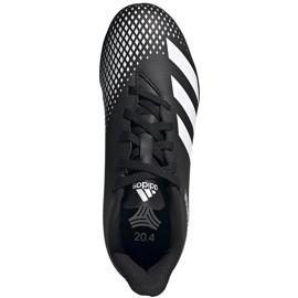 Buty piłkarskie adidas Predator 20.4 Tf Junior FW9223 czarne czarne 1