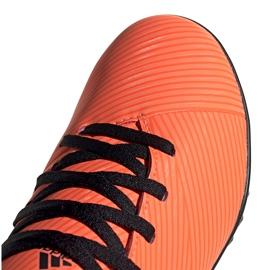 Buty piłkarskie adidas Nemeziz 19.4 Tf Jr pomarańczowe EH0503 3