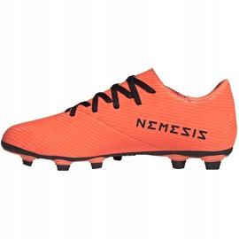 Buty piłkarskie adidas Nemeziz 19.4 FxG pomarańczowe EH0302 2