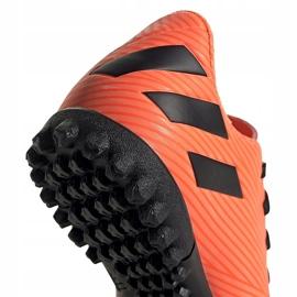 Buty piłkarskie adidas Nemeziz 19.4 Tf Jr pomarańczowe EH0503 4