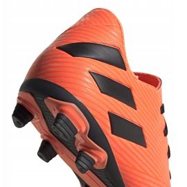 Buty piłkarskie adidas Nemeziz 19.4 FxG pomarańczowe EH0302 4