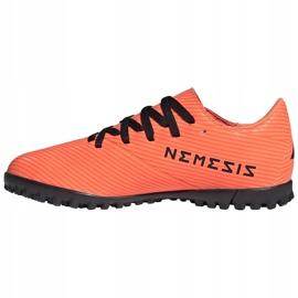Buty piłkarskie adidas Nemeziz 19.4 Tf Jr pomarańczowe EH0503 2