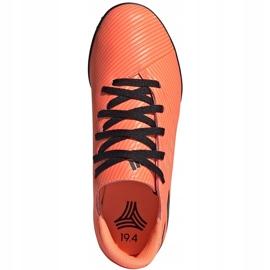 Buty piłkarskie adidas Nemeziz 19.4 Tf Jr pomarańczowe EH0503 1