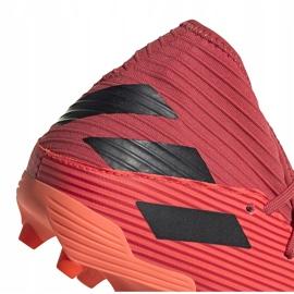 Buty piłkarskie adidas Nemeziz 19.3 Fg pomarańczowe EH0300 4