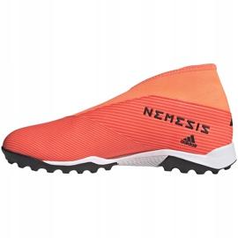 Buty piłkarskie adidas Nemeziz 19.3 Ll Tf pomarańczowe EH0277 2