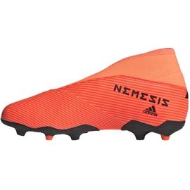 Buty piłkarskie adidas Nemeziz 19.3 Ll Fg Junior EH0488 pomarańczowe pomarańczowe 2