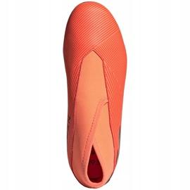 Buty piłkarskie adidas Nemeziz 19.3 Ll Fg Junior EH0488 pomarańczowe pomarańczowe 1