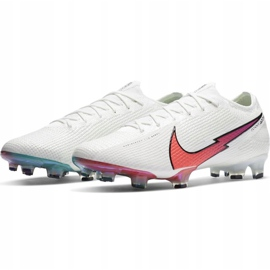 Buty piłkarskie Nike Mercurial Vapor 13 Elite Fg AQ4176 163 białe białe 4