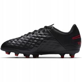 Buty piłkarskie Nike Tiempo Legend 8 Club FG/MG Junior AT5881 060 czarne czarne 2