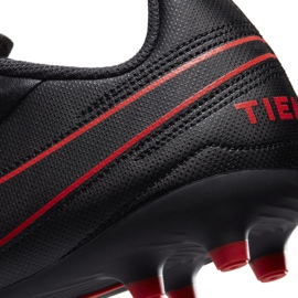 Buty piłkarskie Nike Tiempo Legend 8 Club FG/MG Junior AT5881 060 czarne czarne 6