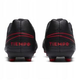 Buty piłkarskie Nike Tiempo Legend 8 Club FG/MG Junior AT5881 060 czarne czarne 4