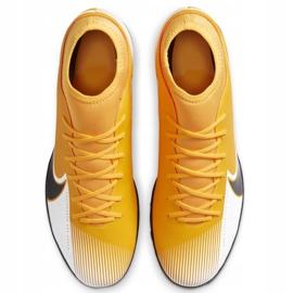 Buty piłkarskie Nike Mercurial Superfly 7 Club Tf AT7980 801 pomarańczowe żółte 1