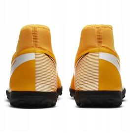 Buty piłkarskie Nike Mercurial Superfly 7 Club Tf AT7980 801 pomarańczowe żółte 4